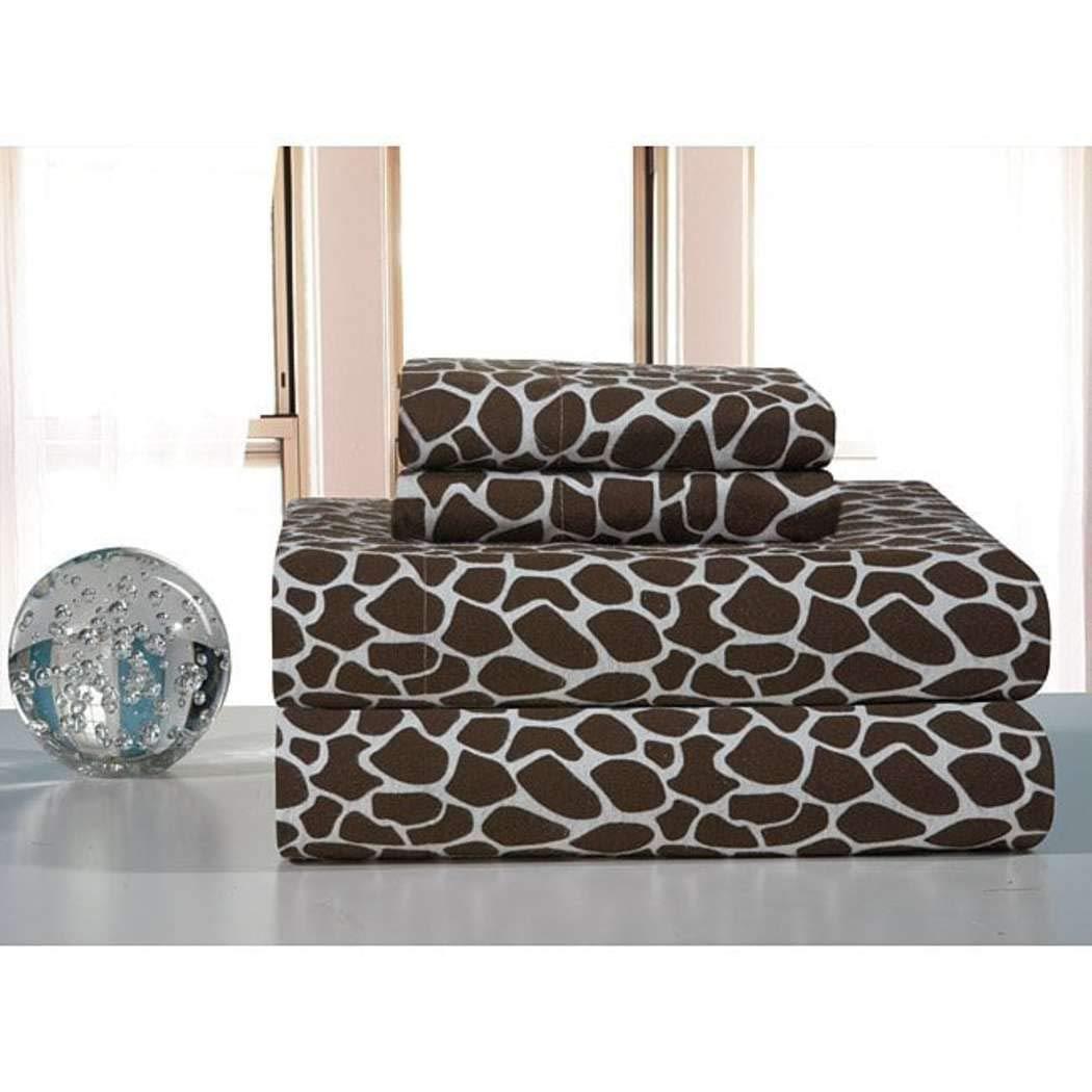 Amazon.com: 3 Piece Kids Brown Giraffe Pattern Sheet Twin XL Set