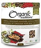 Organic Traditions Dark Chocolate Almonds with Chili -- 8 oz