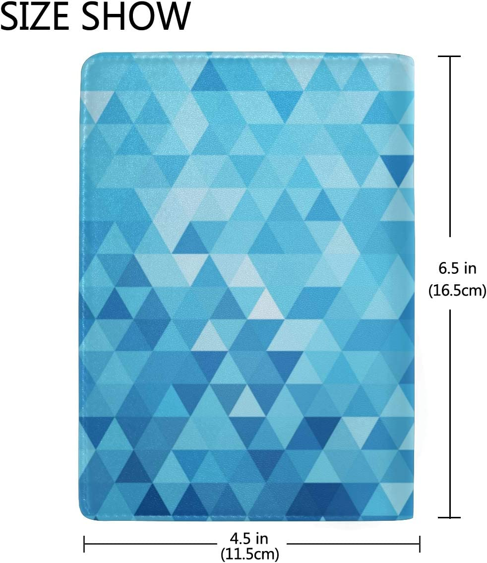 Simple Geometry Is Regular Blocking Print Passport Holder Cover Case Travel Luggage Passport Wallet Card Holder Made With Leather For Men Women Kids Family