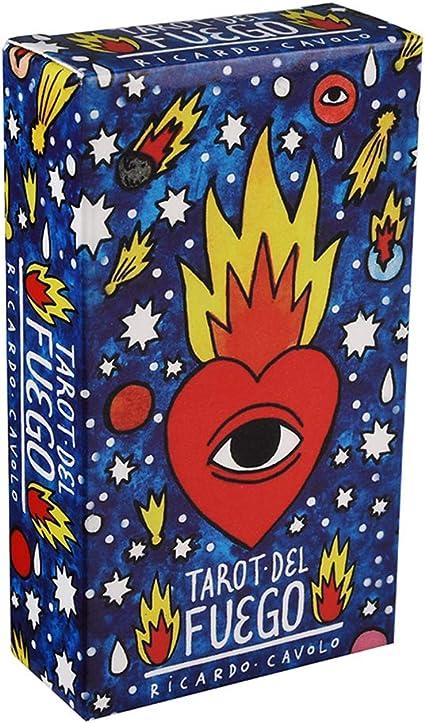 Tarot Del Fuego Cards Deck By Ricardo Cavolo Fournier Telling Spain 78 Sheets