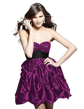 Clarisse Pick-Up Prom Dress 9036, Wine, 2