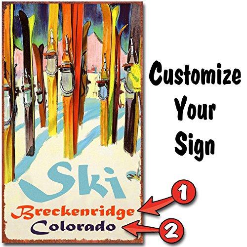 Brighton Ski (Ski Lodge Personalized Sign -