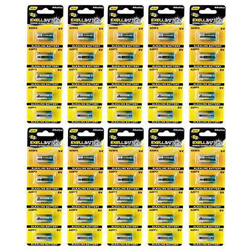 50pc Exell A28PX 6V Alkaline Battery L544BP V28PXL K28L PX28A A544 by Exell Battery