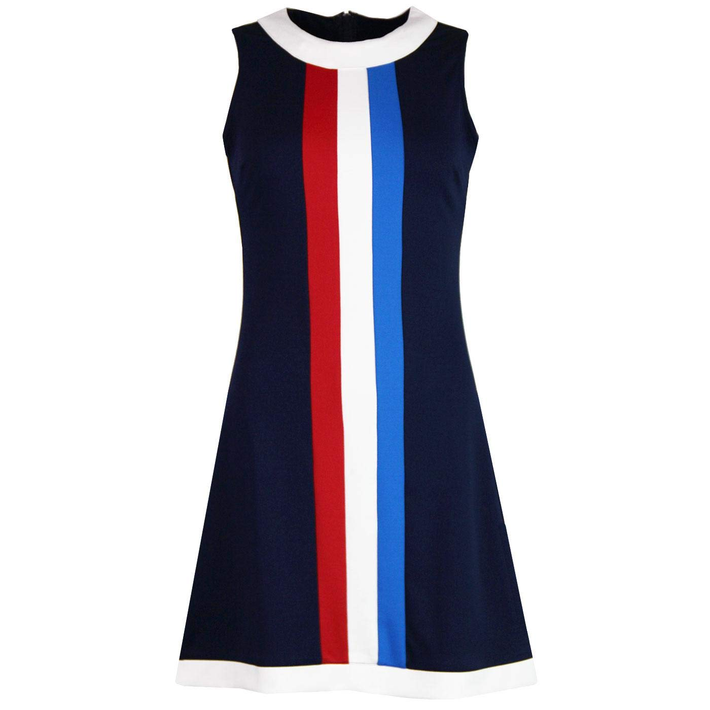1960s Style Dresses, Clothing, Shoes UK Madcap England Polly Womens Retro 60s Mod Mini Jersey Dress with Stripe Front £39.99 AT vintagedancer.com