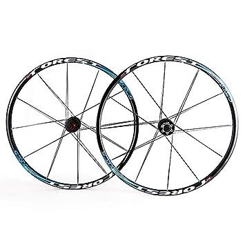 MZPWJD Rueda de Bicicleta 26 27.5 Pulgadas MTB Bike Juego de Ruedas de Doble Pared Freno de llanta de Disco Tambor de aleación 24H 7 8 9 10 11 Velocidad: Amazon.es: Deportes y aire libre