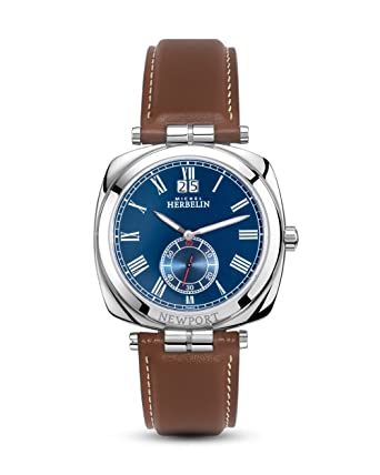 e47c944052 Montre Homme Michel Herbelin - 18264/AP05GO - NEWPORT - Cadran Bleu -  Bracelet Cuir