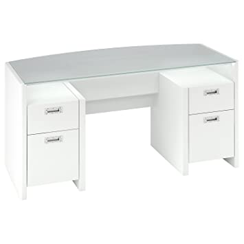 bush furniture kathy ireland office new york skyline bow front double pedestal desk 63 amazoncom bush furniture bow