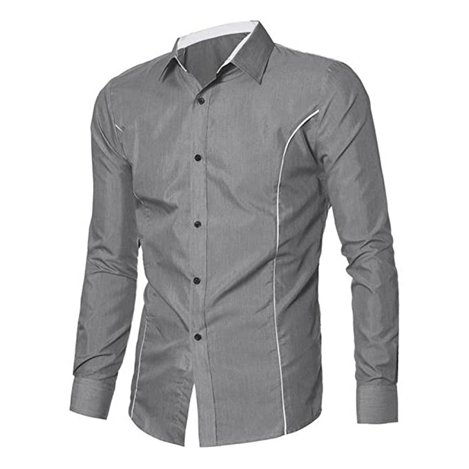 60f60e9729be Herrenhemd T-shirt,Dasongff Neue Mode Herren Hemd Langarm Casual Slim Fit  Stilvolle Hemden