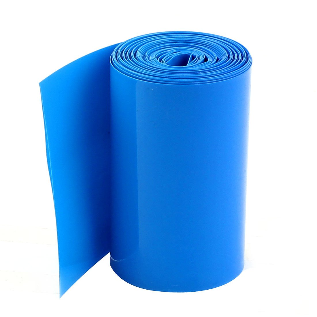 sourcingmap 5Meters 70mm Width PVC Heat Shrink Wrap Blue for 4x18650 Battery Pack