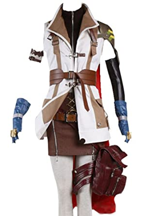 amazoncom cosplaysky final fantasy costume xiii ff 13 lightning cosplay halloween full set clothing