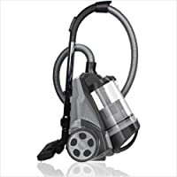 Ovente ST2620B Bagless Canister Cyclonic Vacuum – HEPA Filter – Includes Pet/Sofa, Bendable Multi-Angle, Crevice Nozzle…