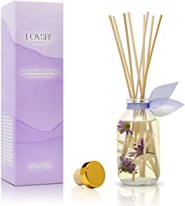 LOVSPA Lavender Vanilla Reed Diffuser Set - Scented Stick Room Freshener - Made in The USA