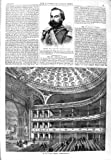 old-print Print 1866 General Prado Dictator Peru Theatre Blackfriars 073P148