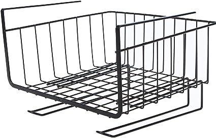 Under Shelf Basket Wire Storage Holder Kitchen Cabinet Organizer Pantry Rack NEW