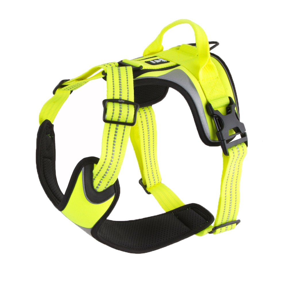 Hurtta Active Dazzle Dog Harness, Hi-Viz Yellow, 32-39 in