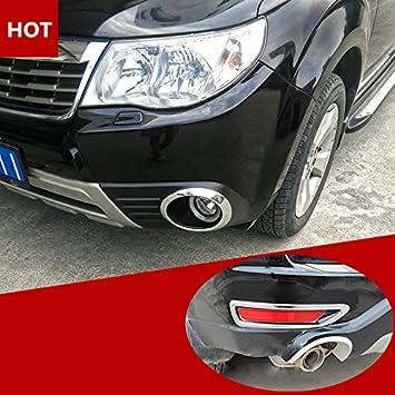 ABS Chrome Front /& Rear Fog Light Trim Cover 4pcs For Subaru Forester 2009-2012