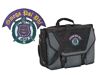 f24120acd493 Image Unavailable. Image not available for. Color  Omega Psi Phi Messenger  Bag