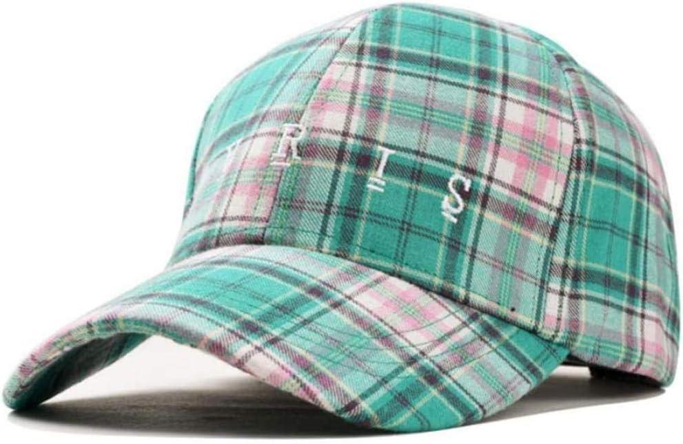XJIUER hat Gorras de béisbol para Hombre de algodón a Cuadros británicos Sombreros de Cola de Caballo para Mujer Sombreros de papá Sombrero Divertido de Hip Hop Amarillo al Aire Libre