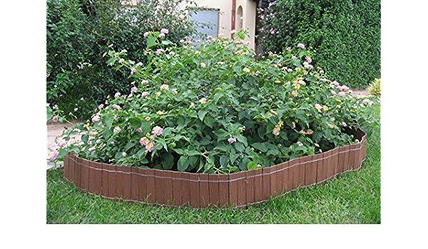 Pack de 2 mini cercados Madera Composite marca B Cottage Nature. Color madera natural: Amazon.es: Jardín