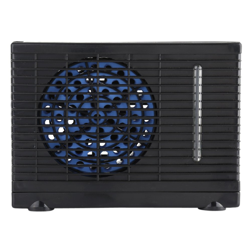 12V Electric Mini Evaporative Air Conditioner Water Cooler Cooling Fan for RV Car Truck Home Black Estink