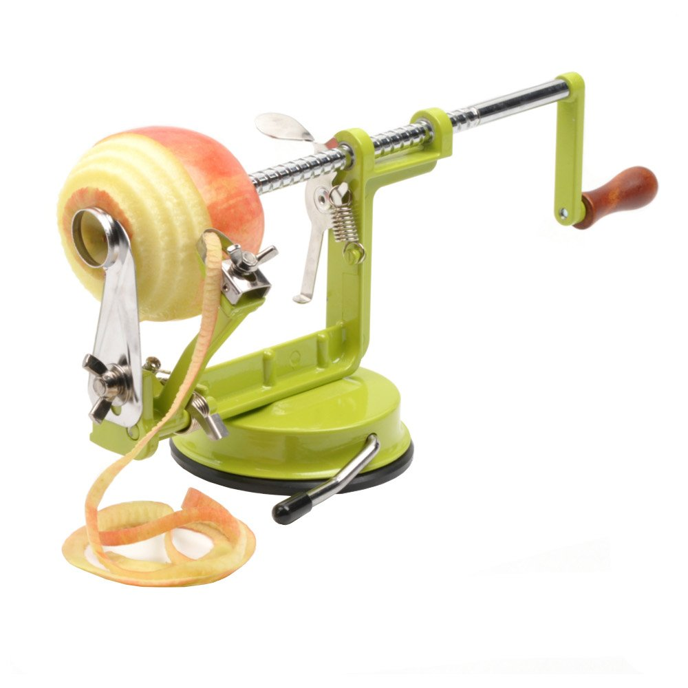 RSVP Apple Slicer, Corer, and Peeler (Green)