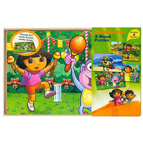 Nickelodeon Jigsaw Puzzles in Wood Box Dora the Explorer Spo