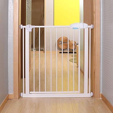 HFYAK Puerta Niños Y Mascotas Puerta Seguridad Expandible Auto Cerrado Combinable con Barandillas Barandilla Escalera Instalar En Cualquier Lugar Reja Metal para Hall Doorway: Amazon.es: Hogar