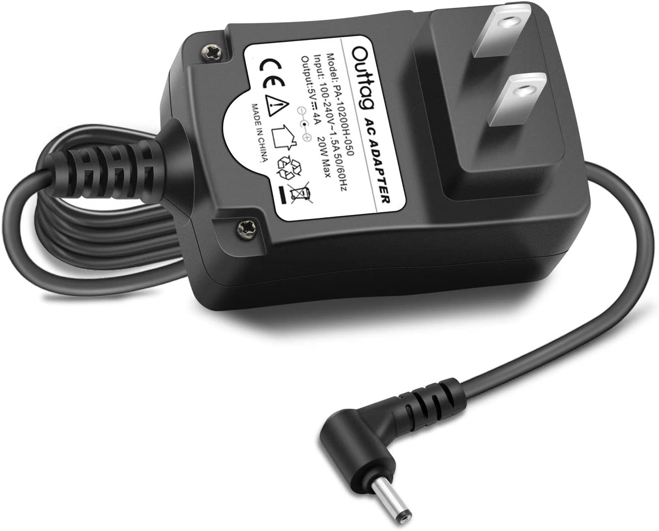 "Outtag 5V 20W Laptop Wall Charger Replacement for Lenovo Ideapad 100S 100S-11IBY 80R2,100S 11.6"" Intel Atom Z3735F;ADS-25SGP-06 05020E GX20K74302 Miix 310-10ICR 80SG001FUS Power AC Adapter Cord"