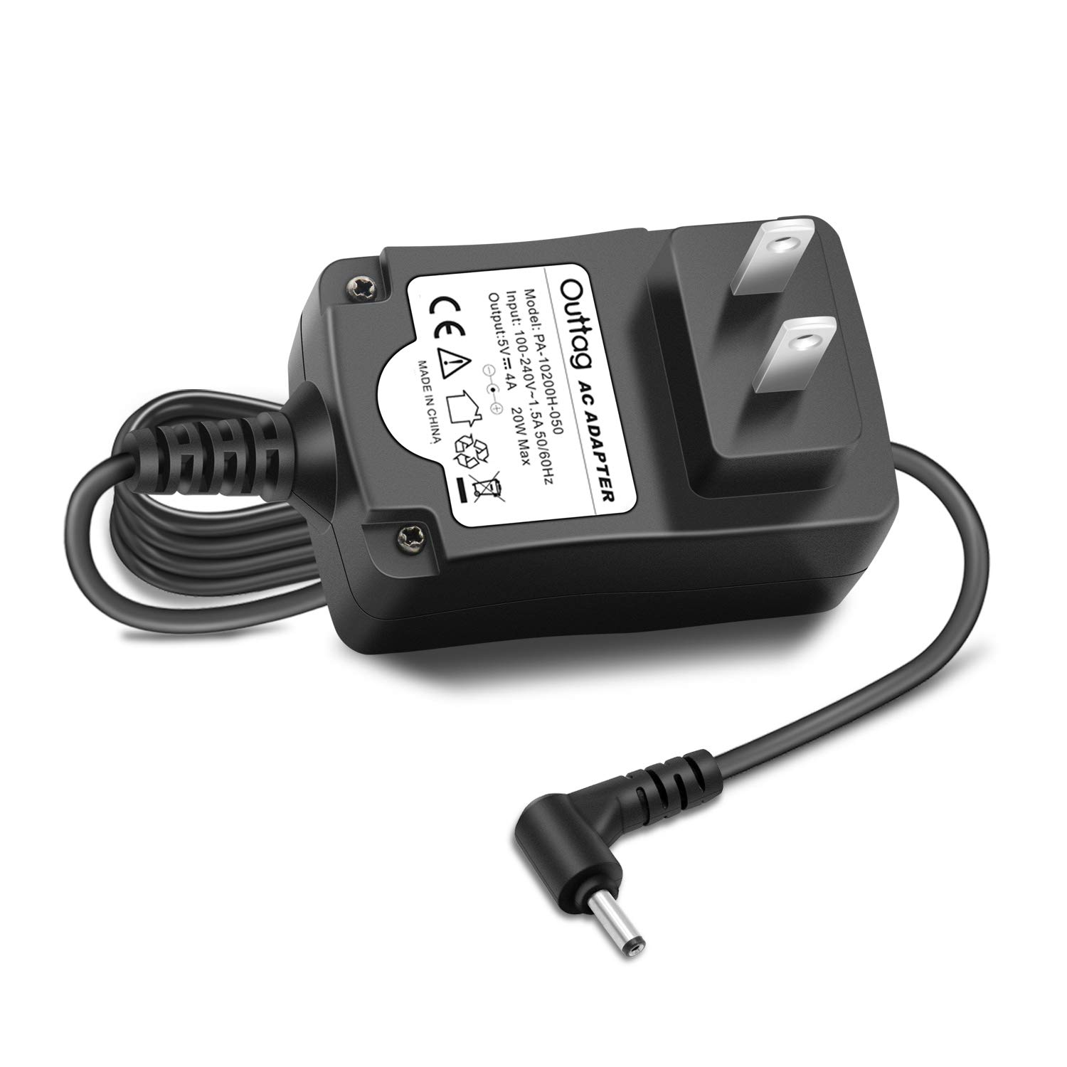 """Outtag 20W 5V 4A Laptop Charger Power Adapter for Lenovo Ideapad 100S 100S-11IBY 80R2,100S 11.6"""" Intel Atom Z3735F, ADS-25SGP-06 05020E GX20K74302 Miix 310-10ICR 80SG001FUS Power Supply Cord"""
