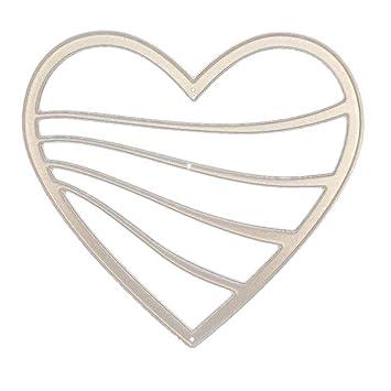 siconght cute metal cutting dies cut heart flower embossing stencil