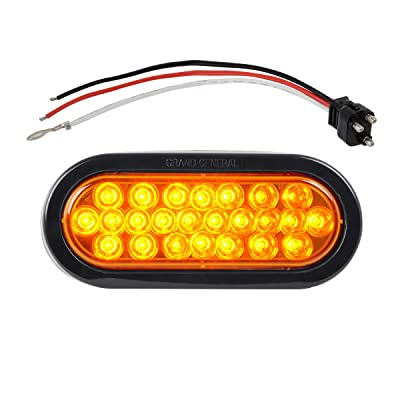"Grand General 78220BP Amber LED Park/Turn/Clearance Light (Pearl 6"" Oval): Automotive"
