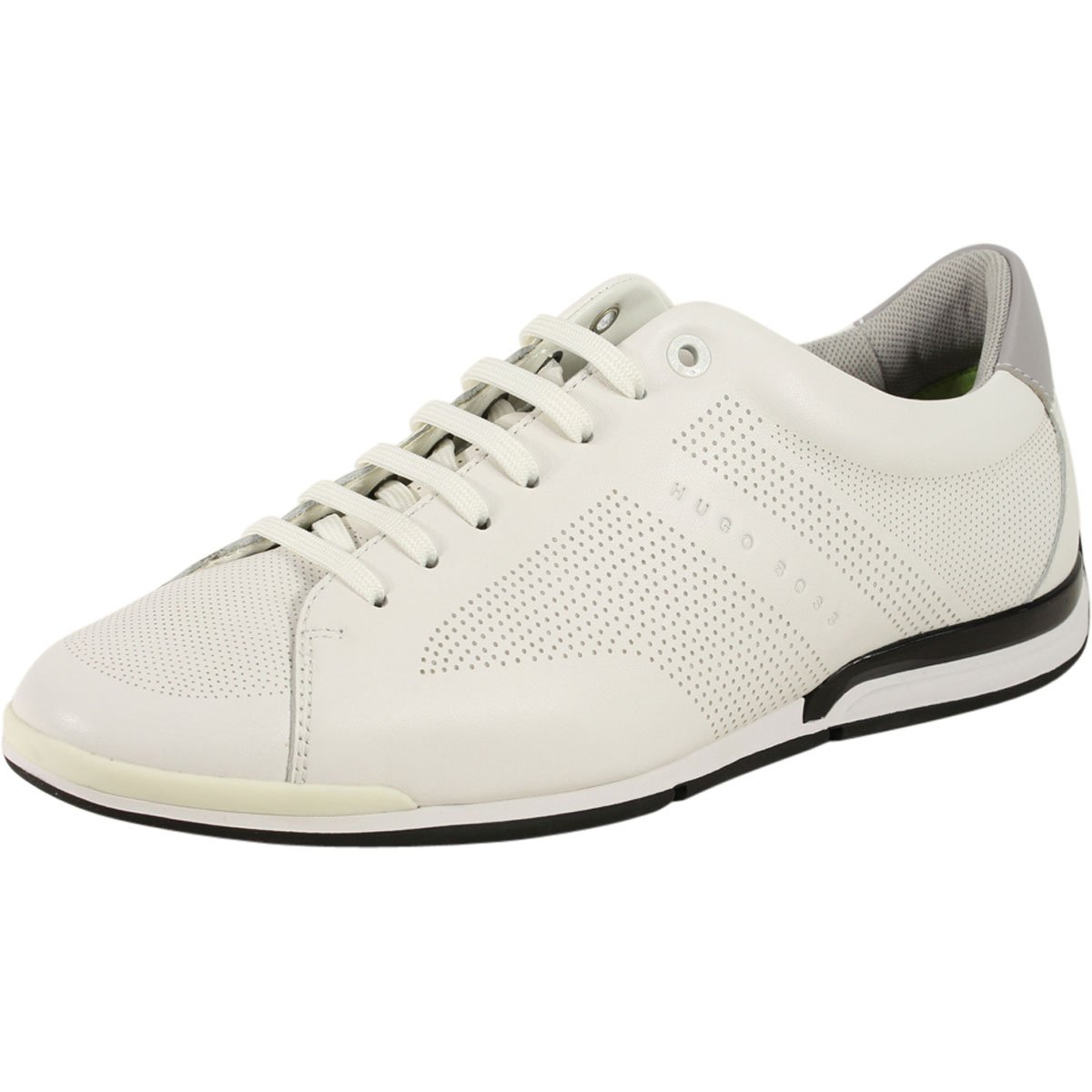 Hugo Boss Men's Saturn White Memory Foam Trainers Sneakers Shoes Sz: 9