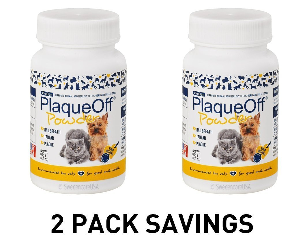 2-PACK ProDen PlaqueOff Animal - All Natural Solution against Tartar & Plaque 2 x 60 gr