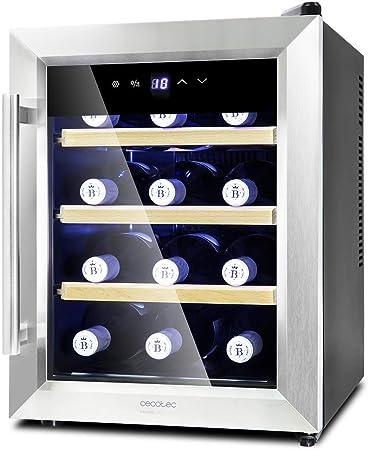 Vinoteca de 12 botellas con capacidad de 33L con diseño con puerta FullCrystal de doble aislamiento