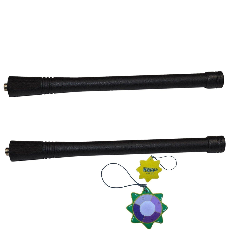CP150 CP190 CP200 CP140 CP180 CP160 HQRP Dos antenas VHF para Motorola CP040 CP185 HQRP medidor del sol