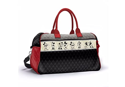 cd9cf73d226e Officially Licensed Disney Mickey   Minnie  Love Story  Quilted Tote  Weekender Bag With Diamond