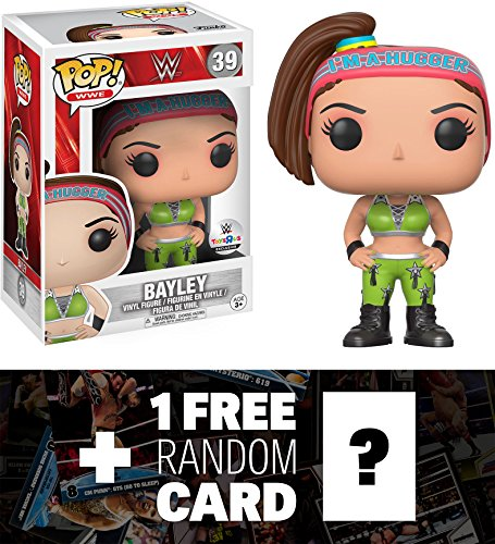 Bayley (Toys ''R'' Us Exclusive): Funko POP! WWE x WWE Vinyl Figure + 1 FREE Official WWE Trading Card Bundle (14830) by Funko