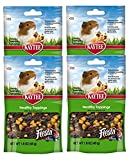 Kaytee Fiesta Healthy Toppings Mixed Fruit Treat for Small Animals (Rabbits, Guinea Pigs, Hamsters, Gerbils, Mice, and Rats) 4 Count