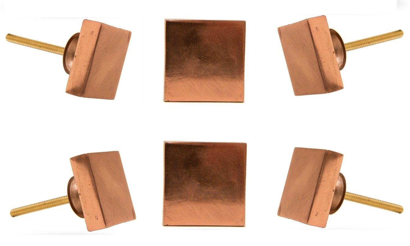Lot de 6 carré s en cuivre Portsoken Bouton par Trinca-ferro FBA_55580862