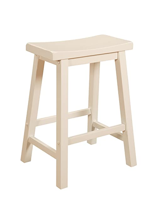 Superb Powell Furniture Color Story 24 Counter Stool In Pure White Machost Co Dining Chair Design Ideas Machostcouk