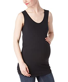 187a8d21e8c RUMOR HAS IT Maternity Basic Round Neck Cotton Ruched Side Tank Top  (Available in Plus