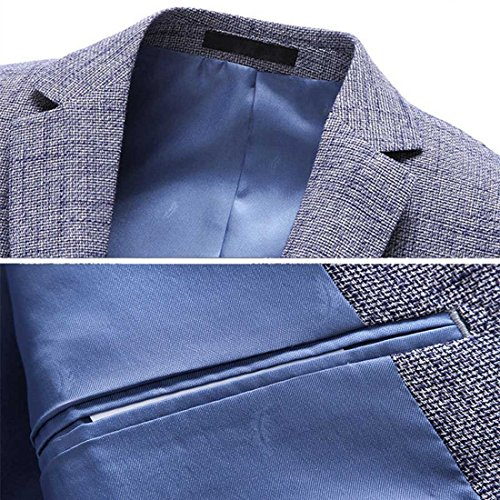 Xsiapas -  Giacca da abito  - Classico  - Maniche lunghe  - Uomo