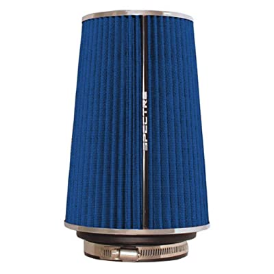 Spectre Universal Clamp-On Air Filter: High Performance, Washable Filter: Round Tapered; 3 in/3.5 in/4 in Flange ID; 8.75 in (222 mm) Height; 6 in (152 mm) Base; 4.75 in (121 mm) Top, SPE-9736: Automotive