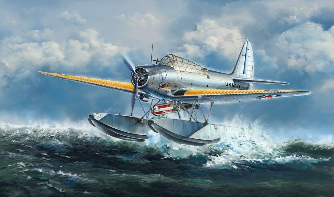 1 48 WWII U.S. Navy Devastator TBD1A seaplane type (L4812) (japan import)