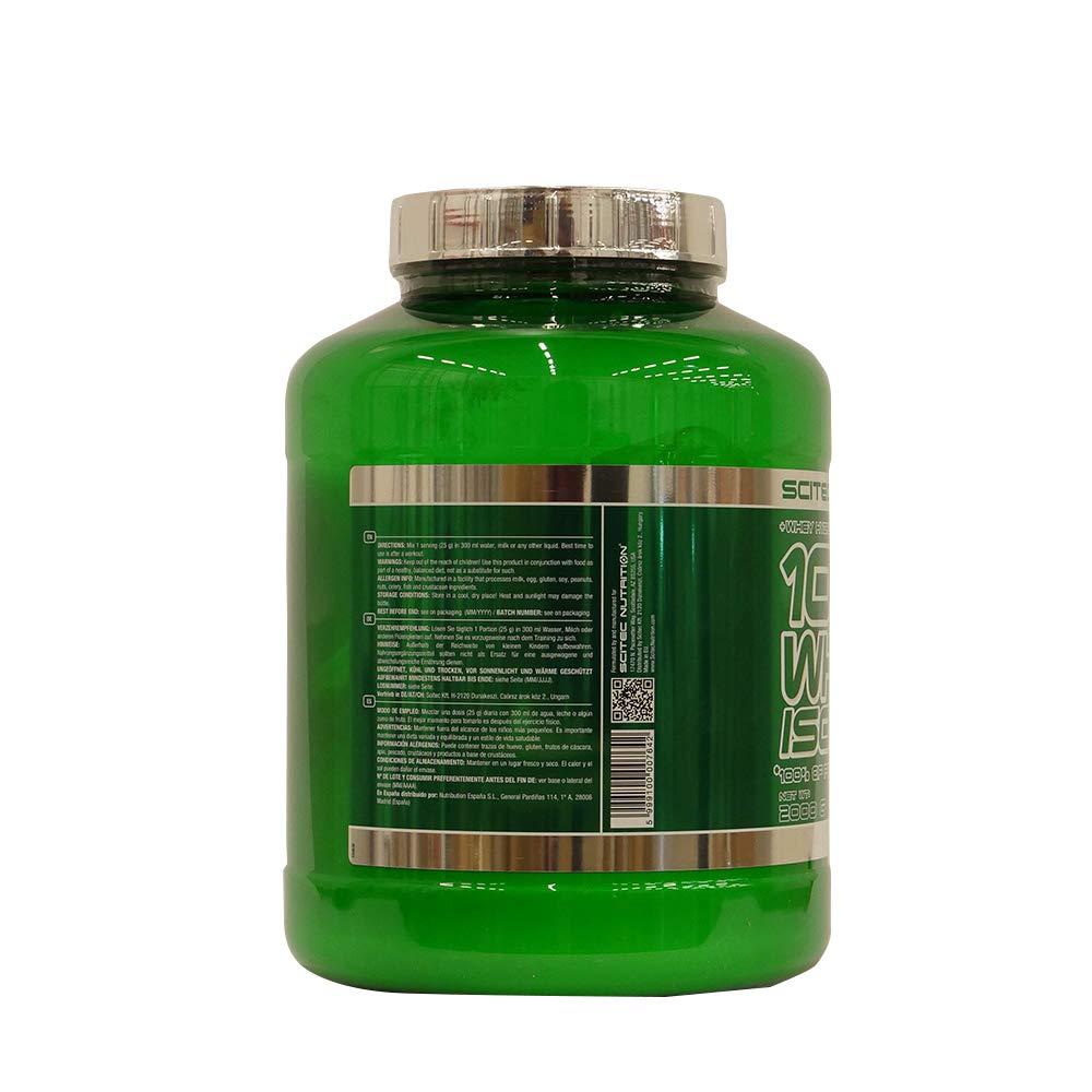 Scitec Nutrition 100% Whey Isolate Suplemento Nutricional de Proteinas con Sabor de Vainilla, 2kg
