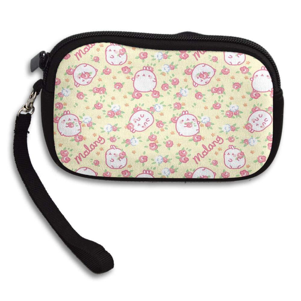 Kawaii Rabbit Pattern Custom Zip Handbag Coin Purse Change Cash Wallet