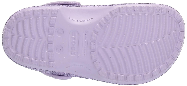 4 M US Big Kid Crocs Kids Classic Glitter Clog Lavender