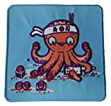 """Octosushi"" Funny Japanese Octopus Chef Cutting Tentacles - Novelty Iron On Patch Applique"