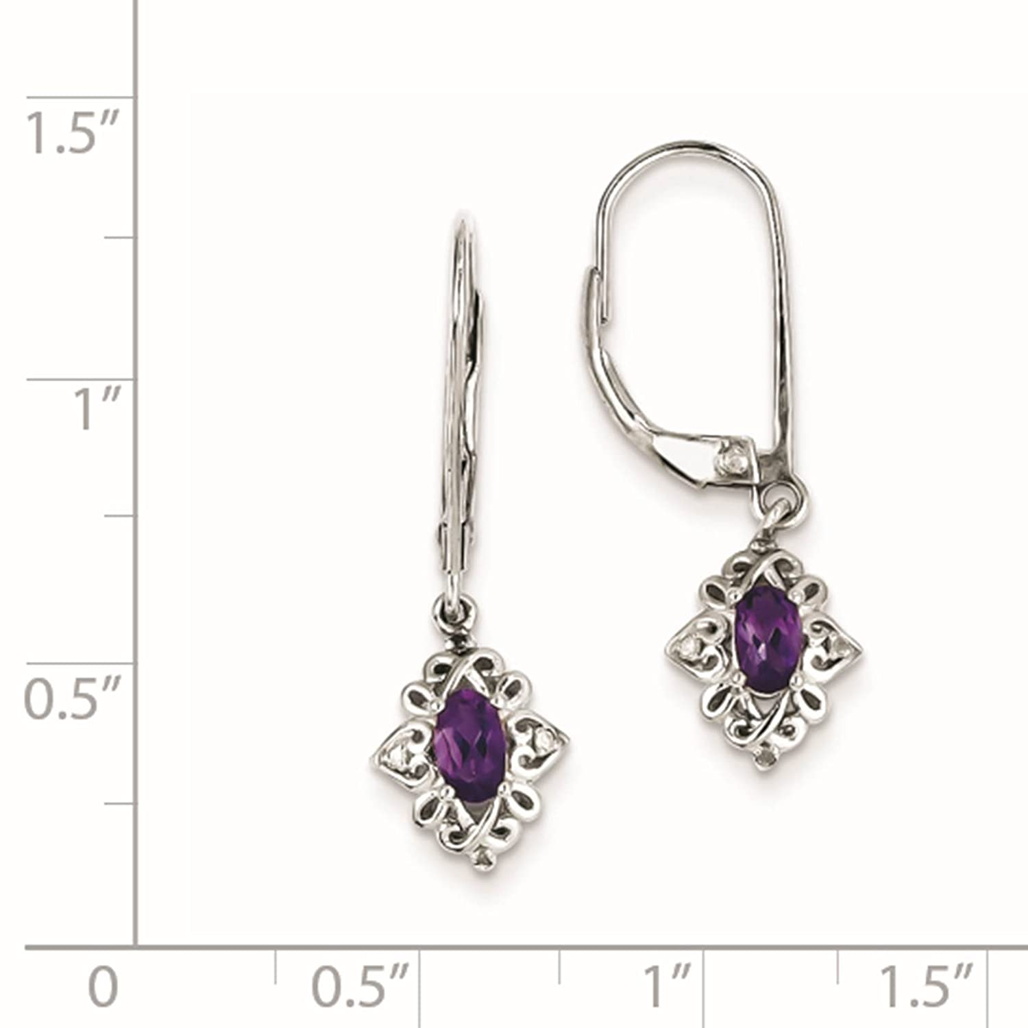 14k White Gold Cubic Zirconia Princess Cut Stud Earrings with Screw Backs Manufactured for Art and Molly 14KW-SQCZ3MM-SC