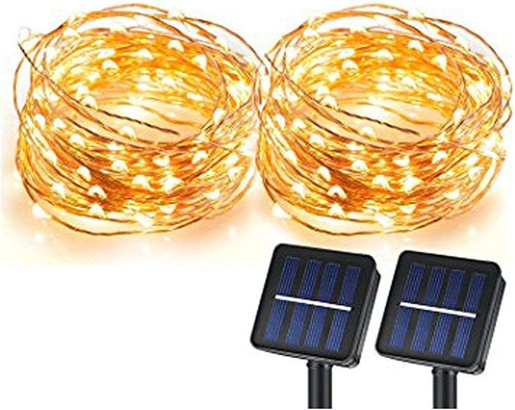 Sunlitec 100 Leds Starry String Lights Copper Wire Solar L Solar String Lights